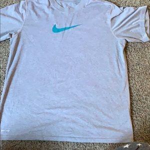 Nike Gray Dri-Fit t shirt.